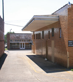 Former Greyhound terminal, downtown Anniston, Alabama, 2009.