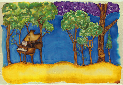 From The Tree Farmer, illustration by Rebecca Bleau