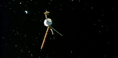 An animation of Voyager traveling through deep space. The Soul of a Man, 2003.