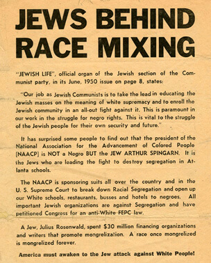 Christian Anti-Jewish Party flyer, circa 1950. Ralph McGill papers, Emory University Special Collections.
