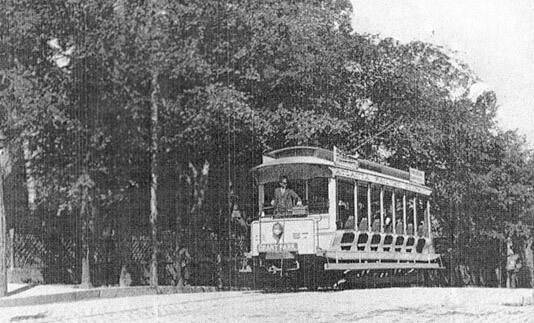 Nine Mile Circle Trolley, circa 1895.