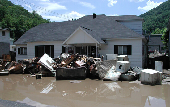 Vivian Stockman, The results of massive flooding, Wyoming County, West Virgina, 2004.