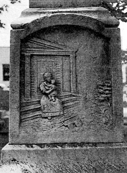 """Mammy figure engraved on Faithful Slave Monument, Fort Mill, South Carolina. From Kimberly Wallace-Sanders essay """"Southern Memory, Southern Monuments, and the Subversive Black Mammy""""."""