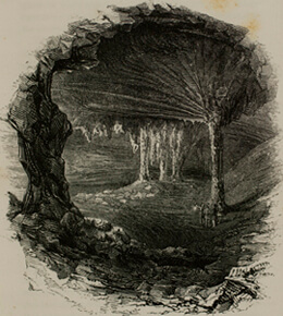 Horace Martin, Gothic Chapel, Mammoth Cave, Kentucky, 1851.