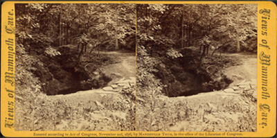 Mandeville Thum, Mouth of the Cave, Mammoth Cave, Kentucky, 1876-1877.
