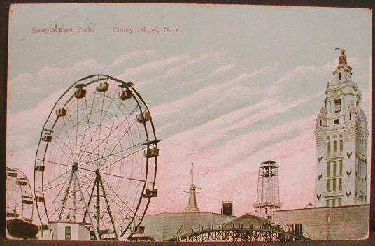 Postcard from Coney Island, Steeplechase Park, Coney Island, NY, circa 1908