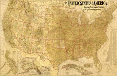 United States map, 1901