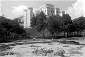 David Wharton, Dry Fountain and Old State Capitol, Baton Rouge, Louisiana.