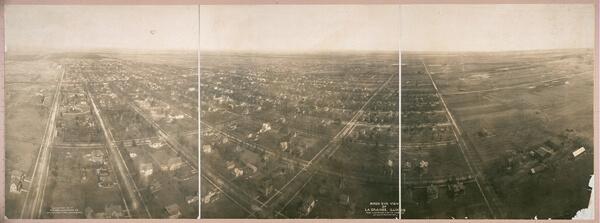 Panoramic photograph of La Grange, Illinois, 1908
