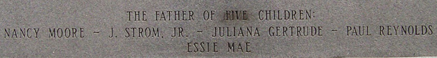 Ranee Saunders, Detailed image of altered text on Thurmond statue, Columbia, South Carolina, 2010.
