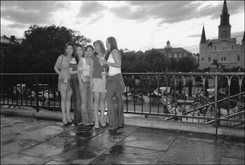 David Wharton, Tourists Posing for Pictures, New Orleans, Louisiana