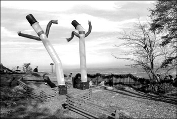 David Wharton, Inflatable Figures, Rock City, Lookout Mountain, near Chattanooga, Tennessee