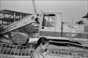 David Wharton, Woman on Cell Phone and Construction Site, Chattanooga, Tennessee