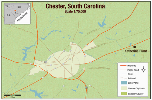Stacey Martin, Chester, South Carolina map, 2006.