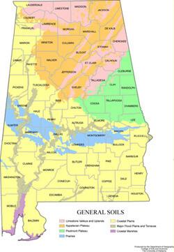 Alabama Soil Map