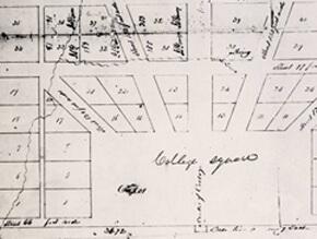 Edward Lloyd Thomas (surveyor), Plan of the Town of Oxford, Georgia, 1837. Courtesy of Emory University Archives.