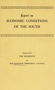 NEC's Report on Economic Conditions of the South, 1938. Digital version, University of North Carolina at Chapel Hill.