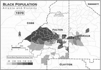 Black Population: Atlanta and Vicinity, 1970 Kevin Kruse, White Flight: Atlanta and the Making of Modern Conservatism Princeton, NJ: Princeton University Press, 2005.