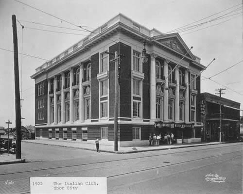 Italian Club on 7th Avenue in Ybor City, Tampa, Florida, 1922. Catalog No.: PA 4970.