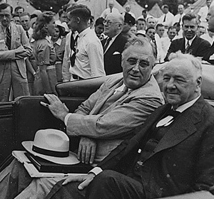Franklin D. Roosevelt and Josephus Daniels at 4-H Tent City in West Potomac Park, Washington D.C., 14 June 1940. Courtesy of the Franklin D. Roosevelt Presidential Library and Museum.
