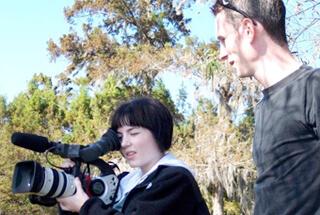 James Peck, Lauren Hendrix and Jim Driscoll shooting at Lake Martin, Louisiana, 2006.