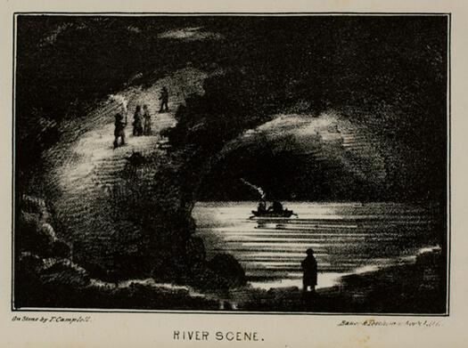 Alexander Clark Bullitt, River Scene from Rambles in Mammoth Cave, 1845.