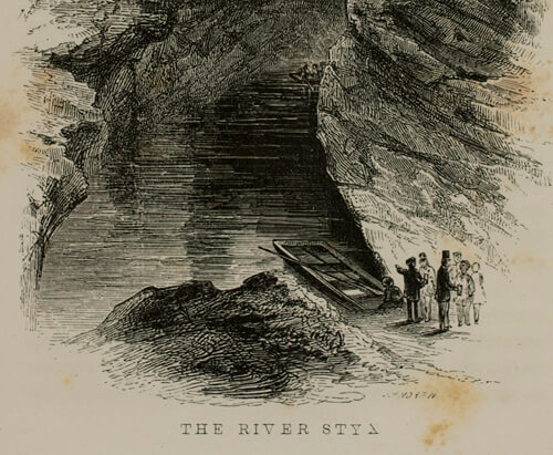 Horace Martin, The River Styx, Mammoth Cave, Kentucky, 1851.