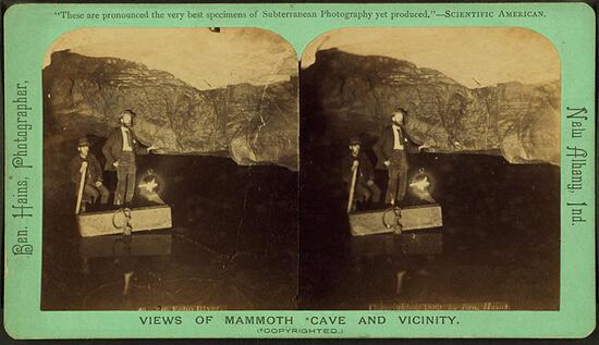 Ben Hains, Echo River, Mammoth Cave, Kentucky, 1889.