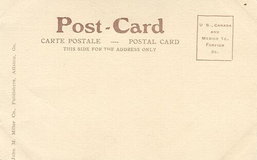 Ponce De Leon: The Coney Island of Atlanta, Ga. (Actual Size) circa 1906