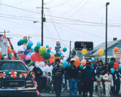 Procession in honor of Our Lady of Guadalupe. Doraville, Georgia. Photo by Mary Odem, 2000