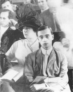 Leo Frank and Lucille Frank at his trial in 1915.
