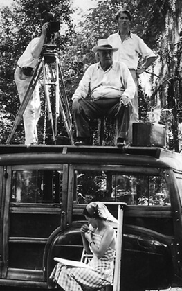 Todd Webb, Flaherty and company on location for Louisiana Story, c. 1947. Courtesy of Standard Oil (New Jersey) Collection, Special Collections, University of Louisville.