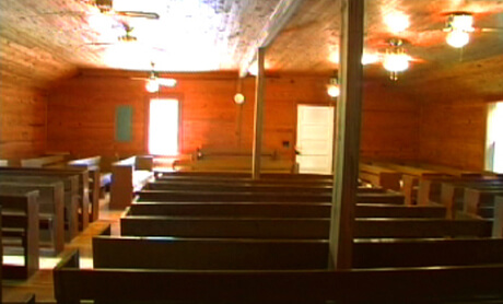 Wilson's Chapel, site of the Chattahoochee Convention (the oldest annual Sacred Harp convention), Carrolton, GA, August 2005. Image courtesy of Matt and Erica Hinton.
