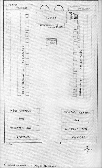 Jimmie Carole Fife, Church Seating Chart.