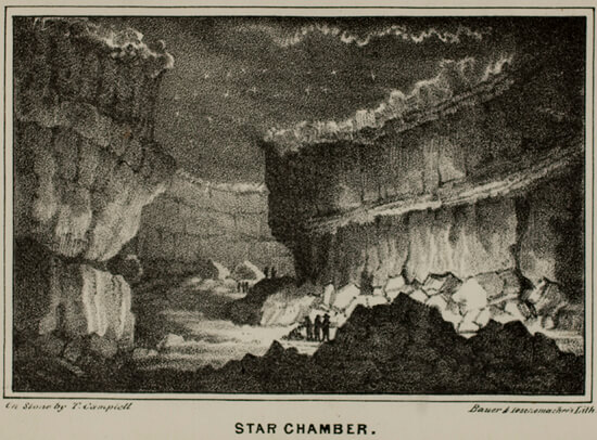 Alexander Clark Bullitt, Star Chamber from Rambles in Mammoth Cave, 1845.