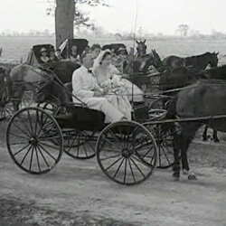 "Still from André de LaVarre's ""Quaint Folks"" in Cajuns of the Teche, Columbia Pictures, 1942."
