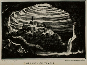 Alexander Clark Bullitt, Chief City or Temple from Rambles in Mammoth Cave, 1845.