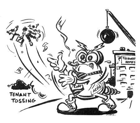 Tenant Tossing Cartoon