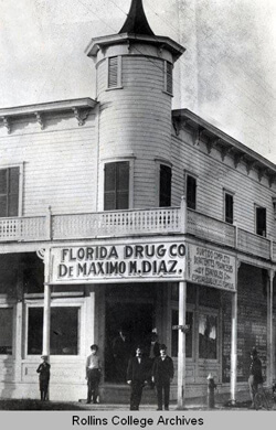 Photographer unknown, Ybor City Drugstore, Ybor City, Florida, 1890s. Rollins Digital Archives.