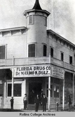Photographer unknown, Ybor City Drugstore, Ybor City, Florida, 1890s. Rollins Digital Archives.