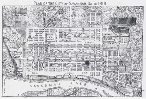 S. Howell, Plan of the City of Savannah, Georgia, 1818.