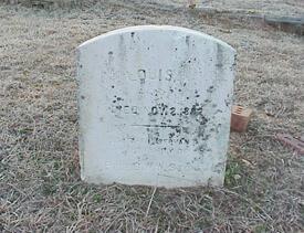 "Mark Auslander, Headstone reading ""Louisa. Died Nov. 2, 1882 Faithful servant of Professor G.W.W. Stone"" (east face), Oxford City Cemetery, Oxford, Georgia, 2000."
