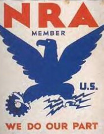 NRA, Blue Eagle Poster, 1930s