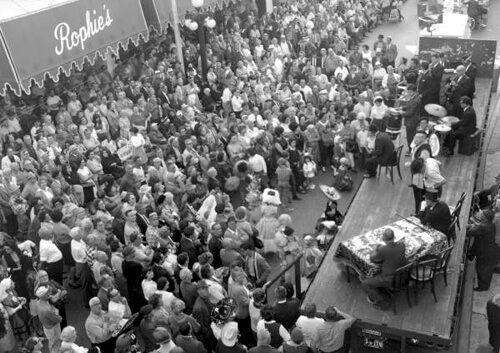Karl Holland, Large crowd gathered in Ybor City for the Gasparilla Carnival, Tampa, Florida, 1966. Catalog no.: c660419. Florida Photographic Collection.