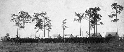 Gevit Parlow, Review of troops, Ybor City, Florida, 1898. Catalog no.: N041284. Florida Photographic Collection.