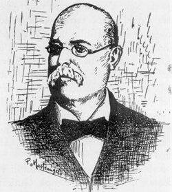 Artist unknown, Drawn portrait of Vicente Martinez Ybor, Tampa, Florida, 18--. Catalog no.: Rc08098 Florida Photographic Collection.