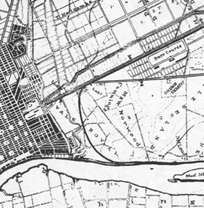 Charles G. Platen, Detail of Map, Savannah, Georgia, 1872.