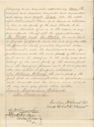Deed of sale for Ten Broeck Race Course, Page 4 of 4, 1872.