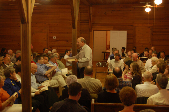 "The Wootten Family, with Terry Wootten leading, performed most musical selections included in this essay (""Pisgah"" is performed by the Wiregrass Sacred Harp Singers). Image courtesy of Matt and Erica Hinton."