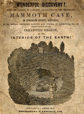 Montgomery Letcher, Cover of Wonderful Discovery, Edmonson County, Kentucky, 1839.